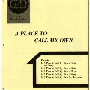 A Place to Call My Own (4-H Manual 17-13)
