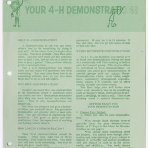 Your 4-H Demonstrations