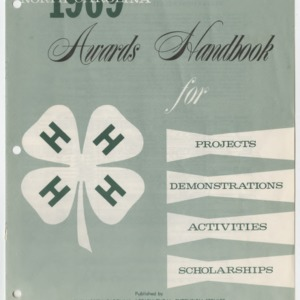 North Carolina 1969 Awards Handbook for Projects, Demonstrations, Activities, and Scholarships