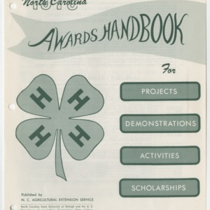 North Carolina 1970 Awards Handbook for Projects, Demonstrations, Activities, and Scholarships