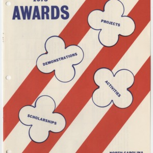 1975 North Carolina 4-H Handbook Awards (4-H Publication 0-1-10, Revised 1974)