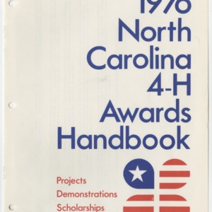 1976 North Carolina 4-H Awards Handbook (4-H Publication 0-1-10, Revised 01-1976)