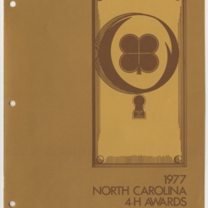 1977 North Carolina 4-H Awards Handbook (4-H Publication 0-1-10, Revised 12-1976)