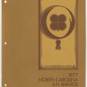 1977 North Carolina 4-H Awards Handbook (4-H Publication 0-1-10, Revised 12-1976)