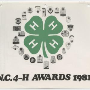 N. C. 4-H Awards 1981 (4-H Publication 0-1-10, Revised)