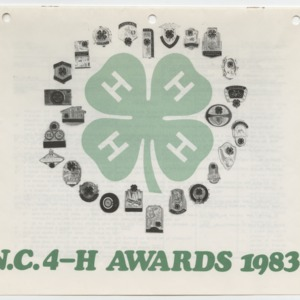 N. C. 4-H Awards 1983 (4-H Publication 0-1-10, Revised)