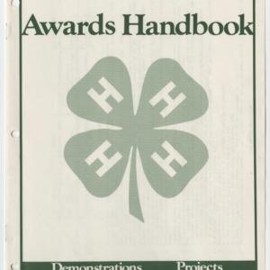 North Carolina 1984 Awards Handbook (4-H Publication 0-1-10, Revised)