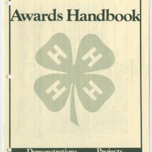 North Carolina 1985 Awards Handbook (4-H Publication 0-1-10, Revised)