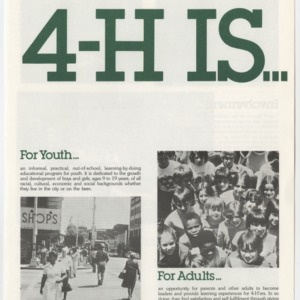4-H Is... (4-H Publication  0-1-74, Reprint, 1985)