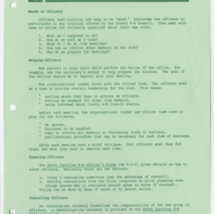 Working with 4-H Club Officers (4-H Publication 0-1-158A, Reprint)