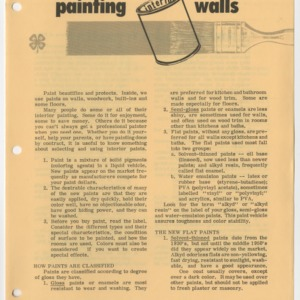 Painting Interior Walls (4-H Miscellaneous)