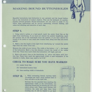 (HE 10) Making Bound Buttonholes