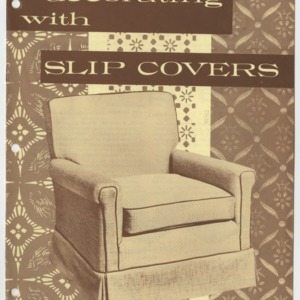 (HE 20) Decorating with Slip Covers (Reprint)