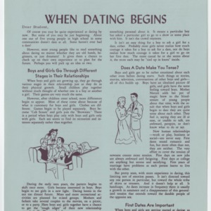 (HE 23d) When Dating Begins