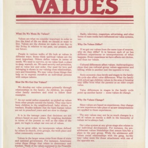 (HE 24) Values (Reprint)