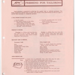 (HE 27) Pressing for Tailoring (Reprint)