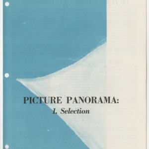 (HE 37) Picture Panorama: 1. Selection (Reprint)