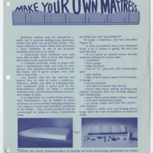(HE 42) Make Your Own Mattress (Reprint)