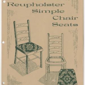 (HE 105) How to Reupholster Simple Chair Seats (Reprint)