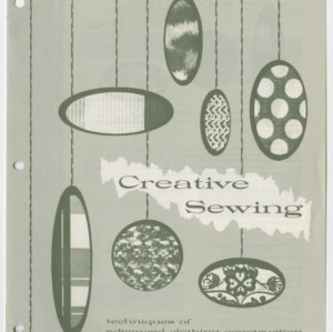 (HE 119) Creative Sewing: Techniques of Advanced Clothing Construction (Reprint)