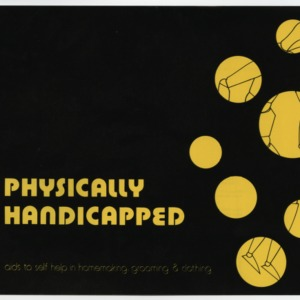 (HE 137) Physically Handicapped: Aids to Self Help in Homemaking, Grooming & Clothing (Reprint)