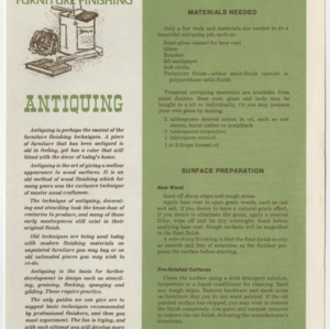 (HE 146) Furniture Finishing: Antiquing