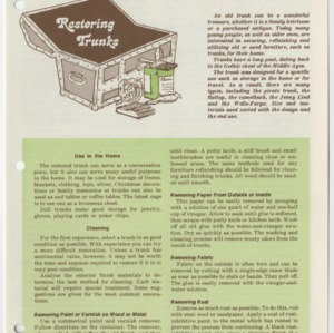 (HE 148) Furniture Finishing: Restoring Trunks (Reprint)