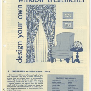 (HE 149) Design Your Own Window Treatments II. Draperies: Machine-Sewn--Lined (Reprint)