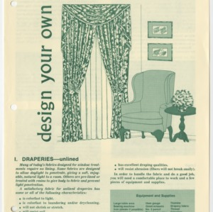(HE 150) Design Your Own Window Treatments I. Draperies: Unlined (Reprint)