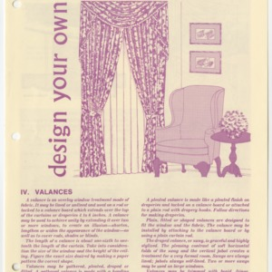 (HE 152) Design Your Own Window Treatments IV. Valances (Reprint)