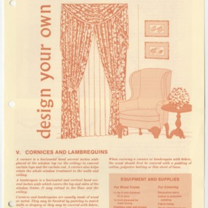 (HE 153) Design Your Own Window Treatments V. Cornices and Lambrequins (Reprint)