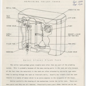 (HE 161) House Repair Guides: Repairing Toilet Tanks (Revised; 2 copies)