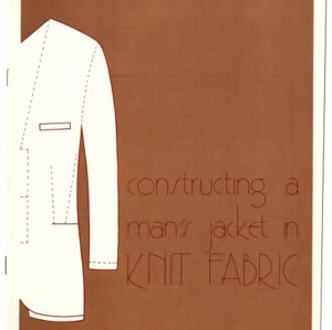Constructing a man's jacket in knit fabric (Home Extension Publication 171)