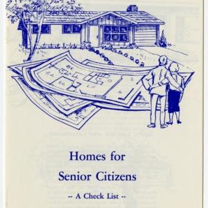 Homes for senior citizens - a checklist (Home Extension Publication 199)