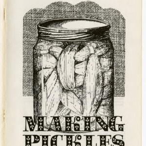 Making pickles in North Carolina (Home Extension Publication 205)