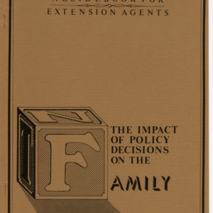 The impact of policy decisions on the family (Home Extension Publication 216)