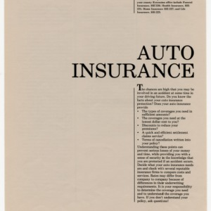 Auto insurance (Home Extension Publication 224)