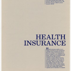 Health insurance (Home Extension Publication 225)