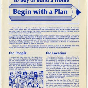 To buy or build your home begin with a plan (HE-235)