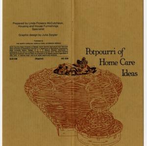 Potpourri of home care ideas (Home Extension Publication 239)