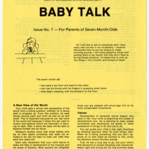 Baby talk: issue no. 7 - for parents of seven-month-olds (Home Extension Publication 242-7)