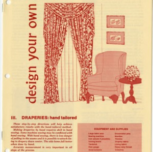 Design your own window treatments III: draperies, hand tailored (Home Extension Publication 245)