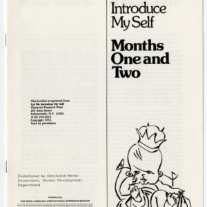 Let me introduce myself: months one and two (Home Extension Publication 252-1)