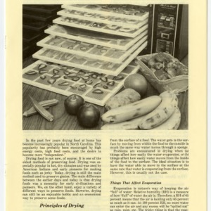 Drying foods in North Carolina (Home Extension Publication 268)