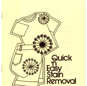 Quick 'n easy stain removal (Home Extension Publication 282)
