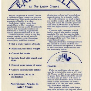 Eating well in the later years (Home Extension Publication 283)