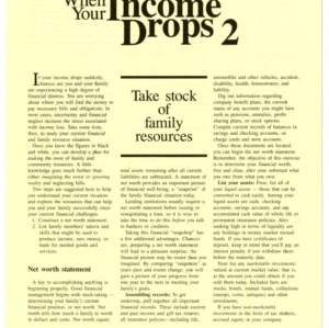 When your income drops 2: take stock of family resources (HE-323-2)