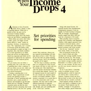 When your income drops 4: set priorities for spending (HE-323-4)