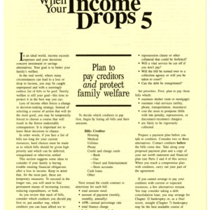 When your income drops 5: plan to pay creditors and protect family welfare (HE-323-5)