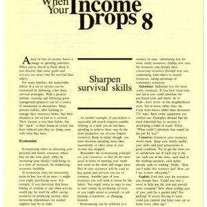When your income drops 8: sharpen survival skills (HE-323-8)
